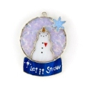Snow Globe Stained Glass Nightlight or Suncatcher