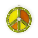 Peace Sign Stained Glass Nightlight or Suncatcher