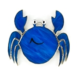 Stained Glass Blue Crab Suncatcher or Nightlight
