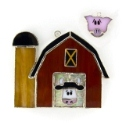 Barn w/cow & pig Stained Glass Nightlight or Suncatcher