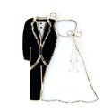 Bride & Groom Stained Glass Nightlight Suncatcher