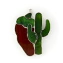 Cactus and Pepper Stained Glass Nightlight or Suncatcher