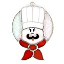 Chef Stained Glass Nightlight Suncatcher