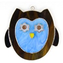 Blue Owl Stained Glass Nightlight Suncatcher