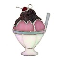 Ice Cram Sundae Stained Glass Nightlight Suncatcher