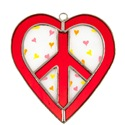 Peace Heart Stained Glass Nightlight Suncatcher