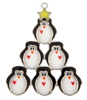 Penguin Tree Stained Glass Nightlight Suncatcher