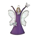 Purple Rejoice Angel Stained Glass Nightlight Suncatcher