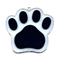 Black Paw Stained Glass Nightlight or Suncatcher