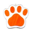 Orange Paw Print Stained Glass Nightlight or Suncatcher