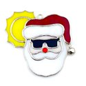 Sunshine Santa Claus Stained Glass Nightlight or Suncatcher